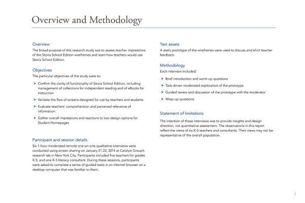 1. Overview and Methodology
