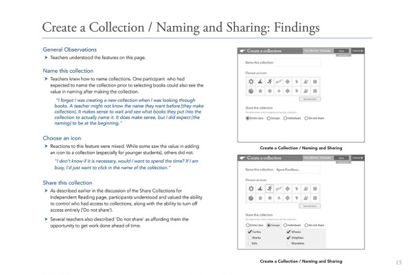 15. Create Collection Naming and Sharing