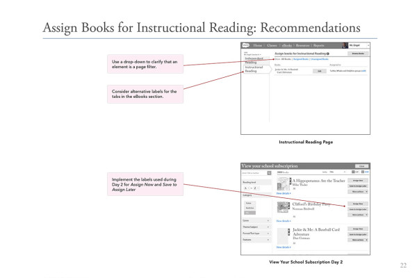 22. AssignBooksForInstructionalReadingRecommendation
