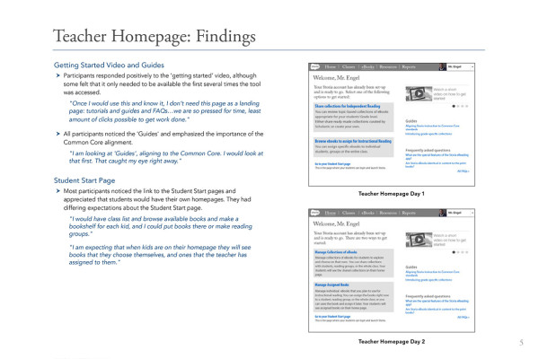 5. Teacher Homepage Findings3