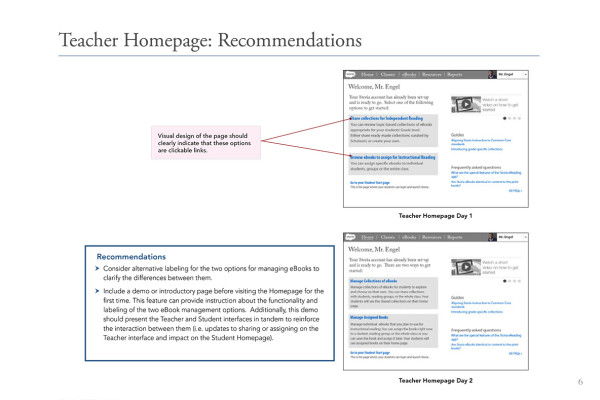 6. Teacher HomepageRecommendation